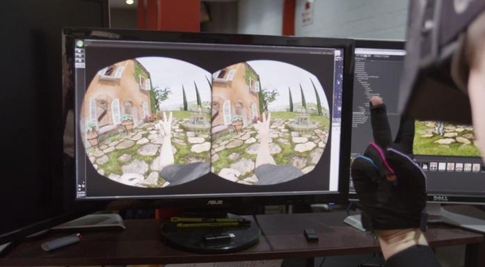 Guantes para utilizar sus dedos en realidad virtual
