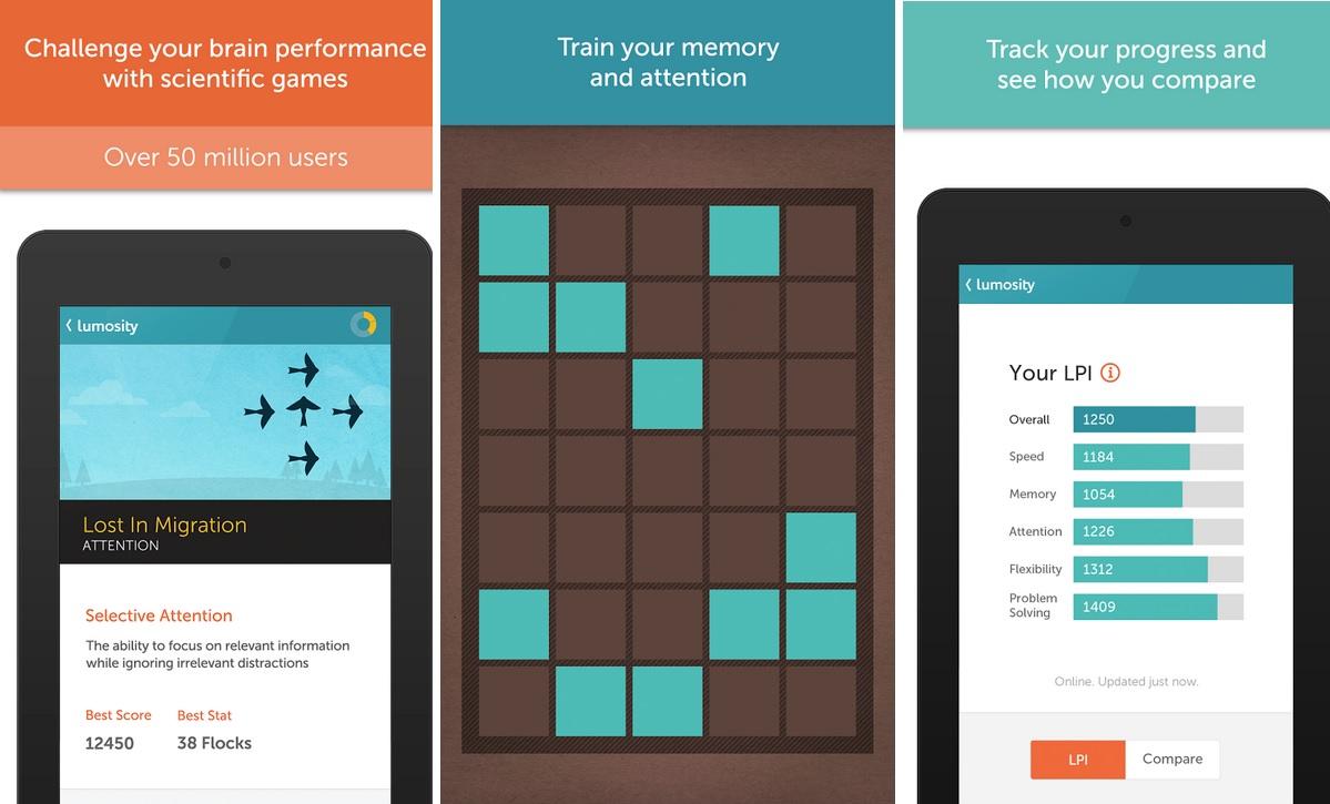 Entrene su memoria y atención, gratis para iPhone, iPad, iPod, Android