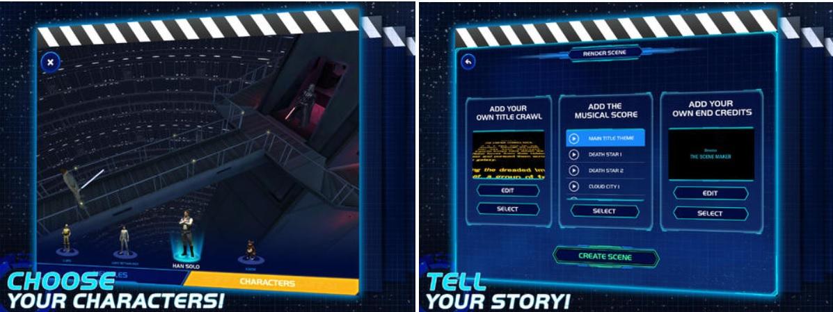 Cree su propio video en el universo de la Guerra de las Galaxias, gratis para iPad