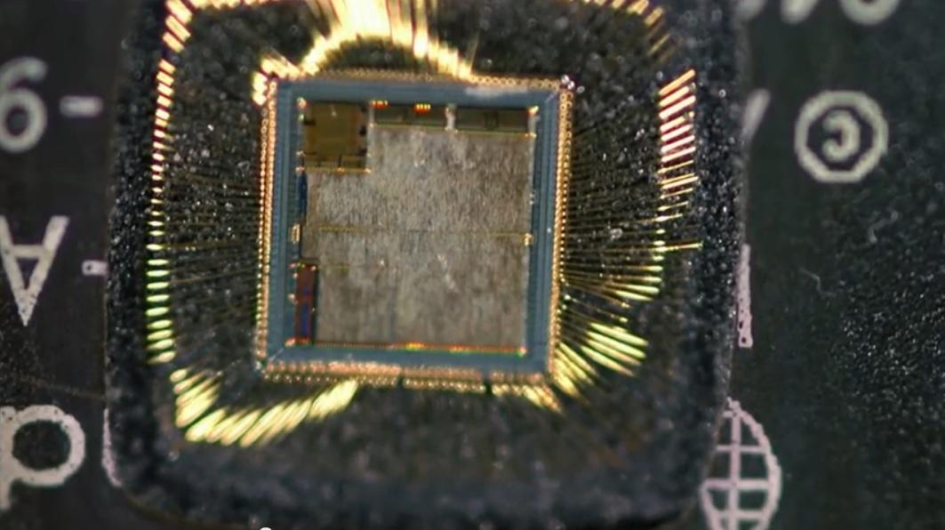 Un zoom al mundo microscópico de un chip de computador