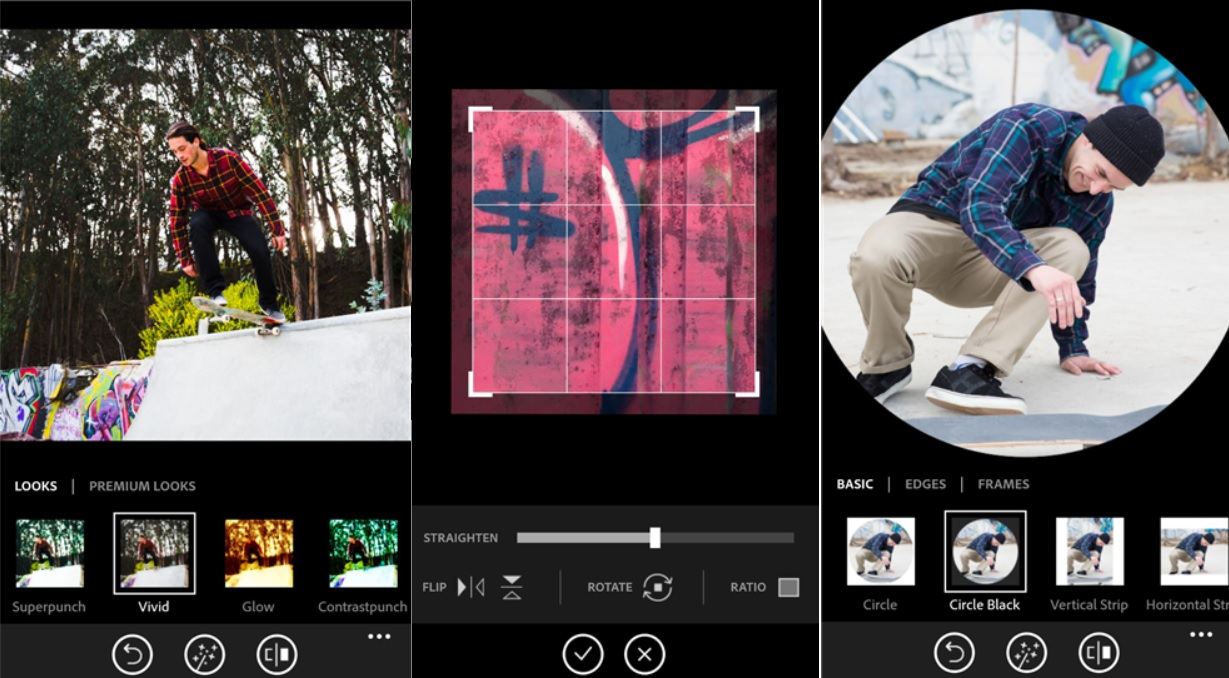 Adobe Photoshop Express para editar sus fotos, gratis para Windows Phone