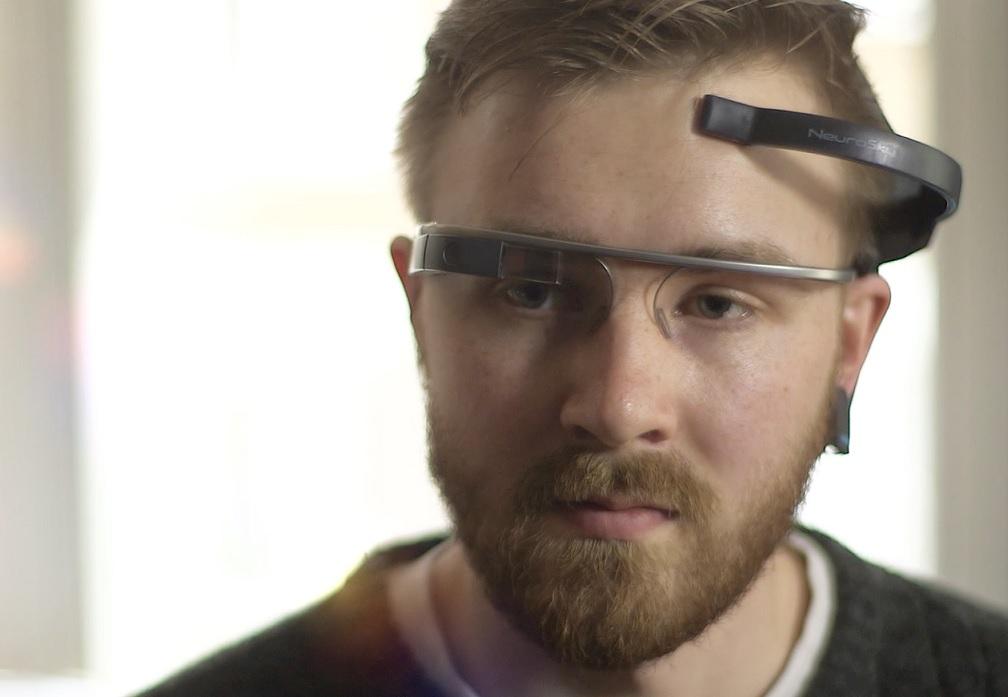 Control con la mente de las gafas de Google