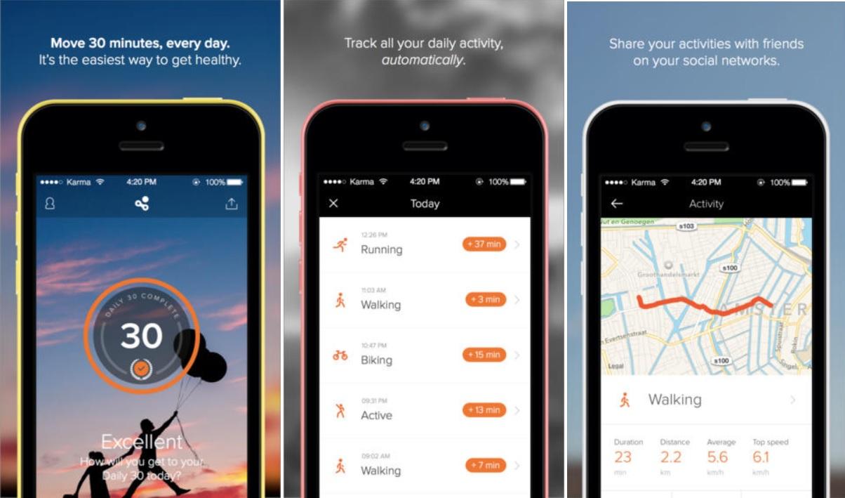 Human lo ayuda a hacer ejercicio diariamente, gratis para iPhone, iPad, iPod