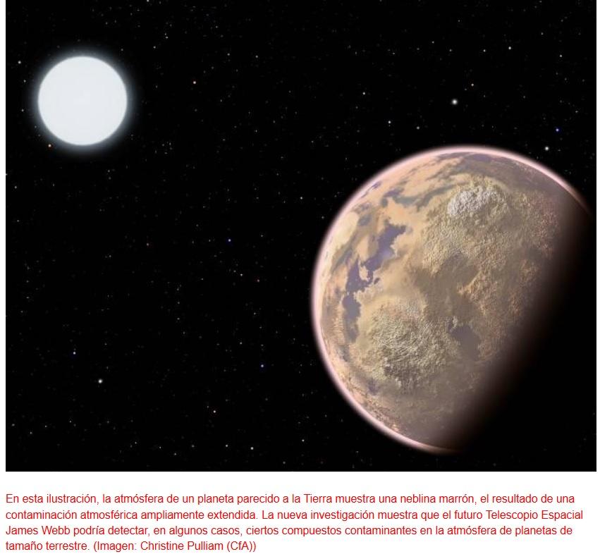 Buscan señales contaminantes delatoras de vida extraterrestre