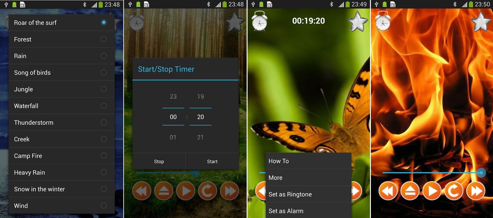 Sonidos de la naturaleza para relajarse o dormir, gratis para Android