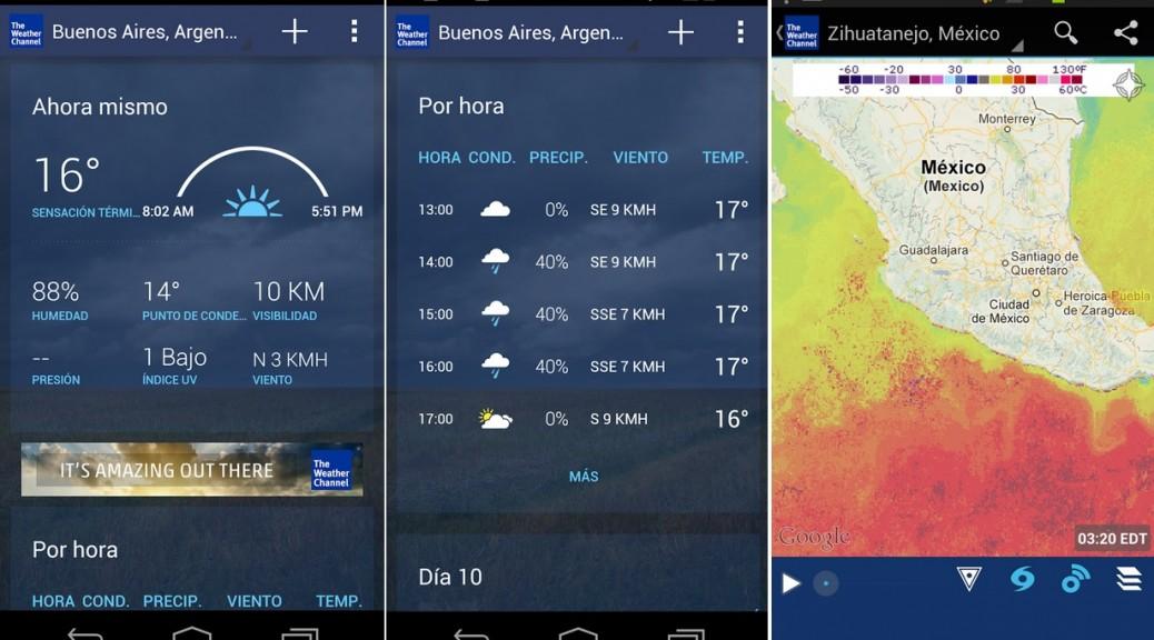 Pronósticos del clima, mapas, gratis para iPhone, iPad, iPod, Android, WIndows Phone