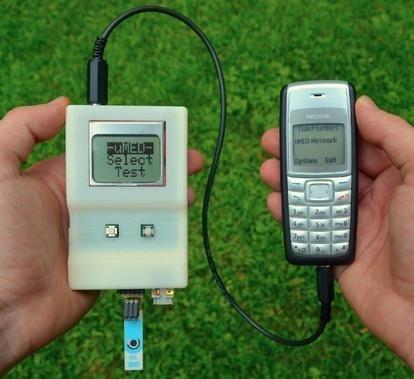 Dispositivo portátil para análisis médicos y transmisión de resultados mediante el teléfono