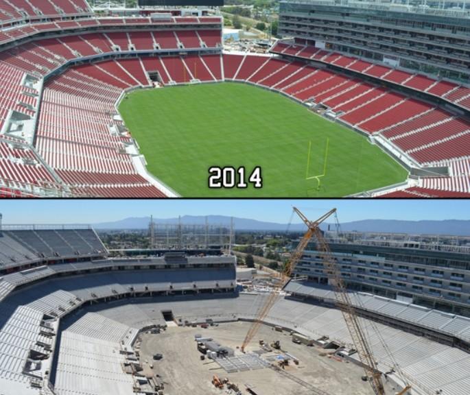 Vea la construcción de 29 meses de un estadio en 2 minutos