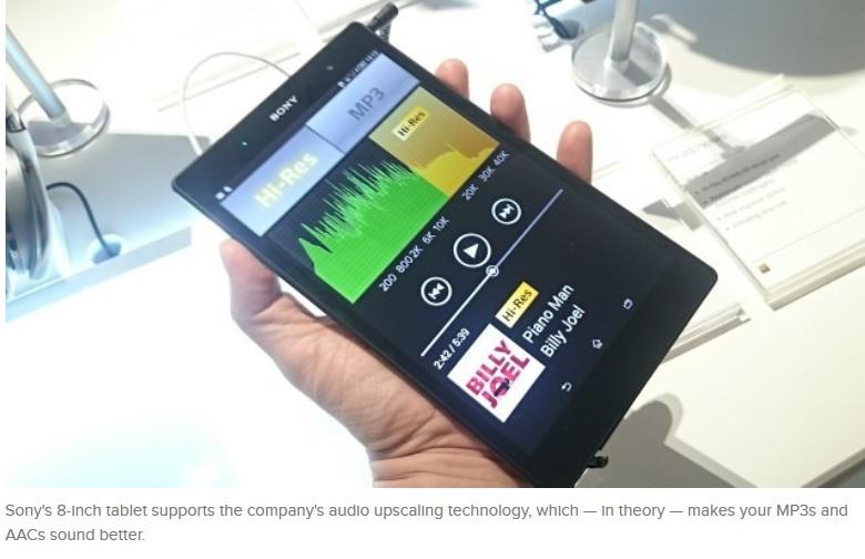 Sony lanza su tablet Z3 Compact para competir con el iPad mini