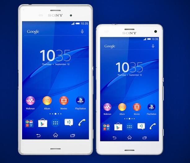 Sony introduce sus nuevos smartphones Xperia Z3 y Z3 Compact