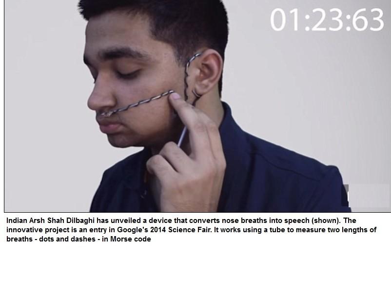 Dispositivo que convierte sus respiraciones en código Morse