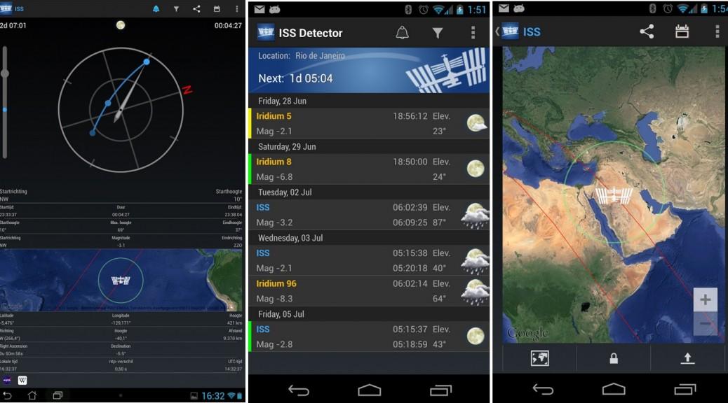 Sepa cuándo y dónde observar la Estación Espacial Internacional, gratis para Android