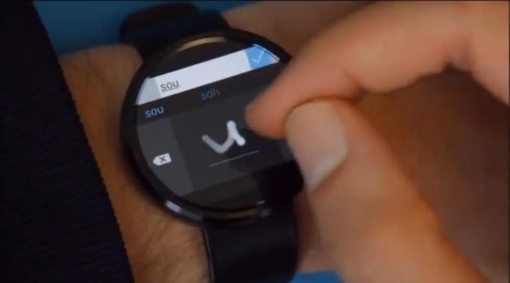 Microsoft trabaja en un teclado de escritura a mano para relojes inteligentes