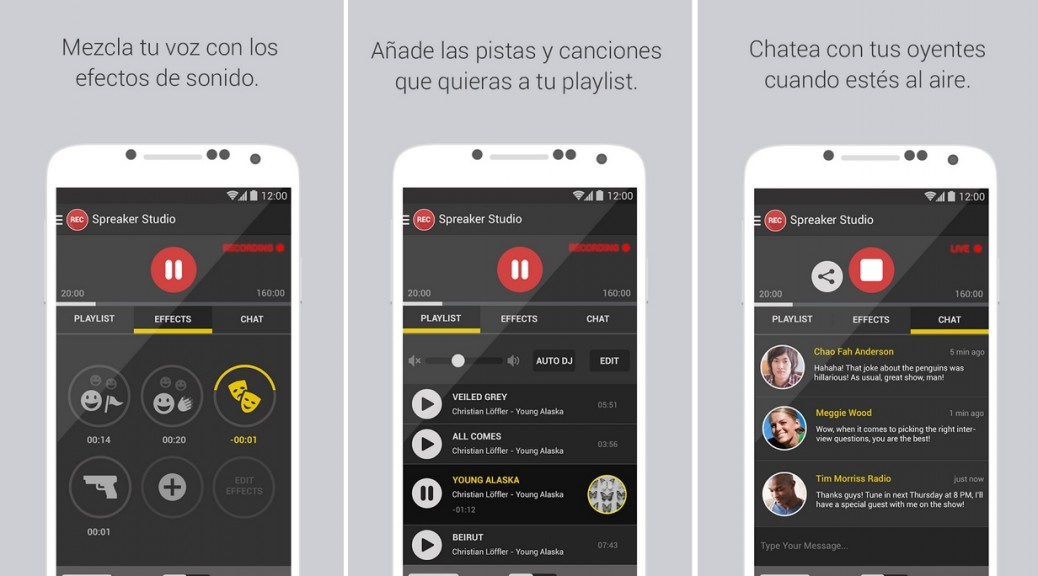 Transmita en directo o cree su programa de radio gratis para Android