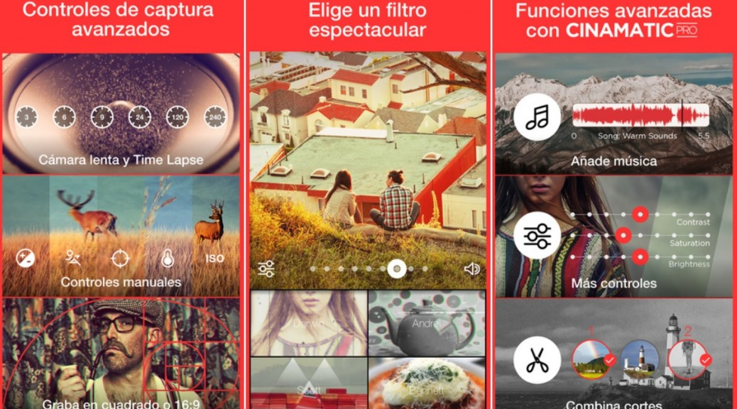 Cree sus propios cortometrajes, gratis para iPhone, iPad, iPod