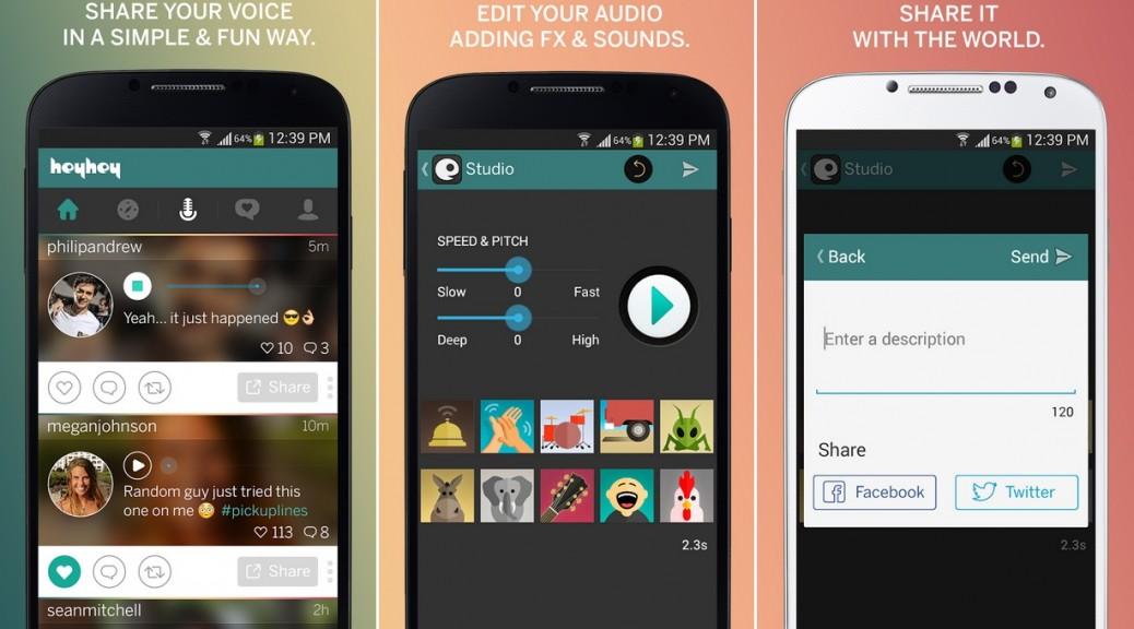 Microblog similar a Twitter pero con mensajes de audio, gratis para iPhone, iPad, iPod, Android