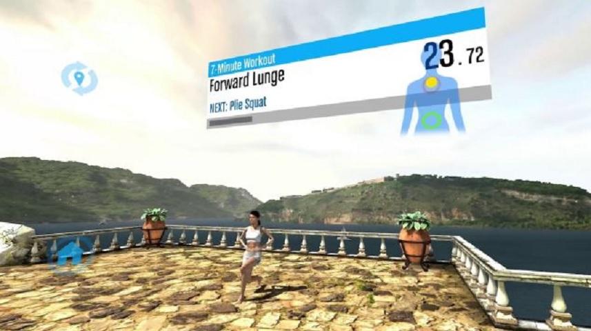 La realidad virtual le permite escoger su ambiente preferido para hacer ejercicios