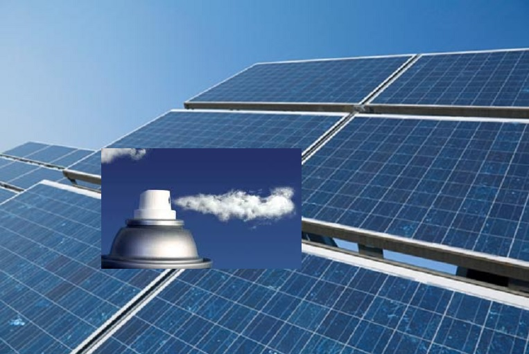 Aerosol para crear celdas solares