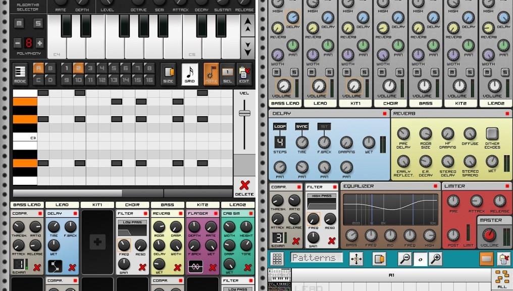 Componga música con variedad de sintetizadores, gratis para Android