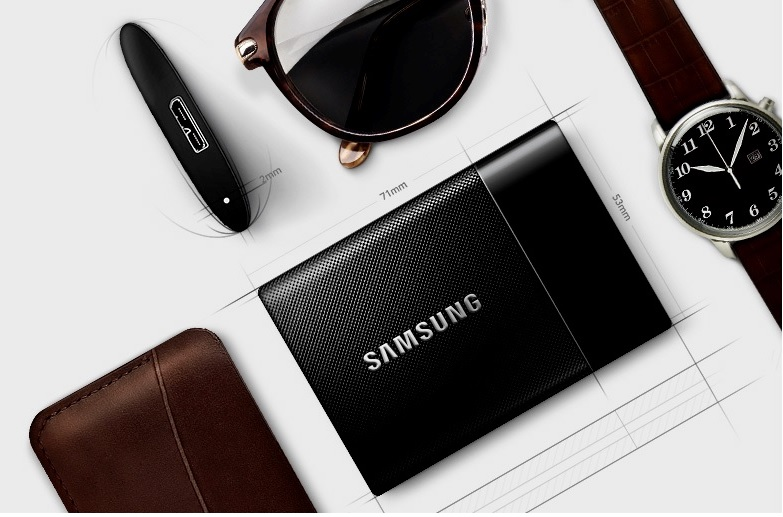 Disco Samsung SSD externo con 1 terabyte de capacidad