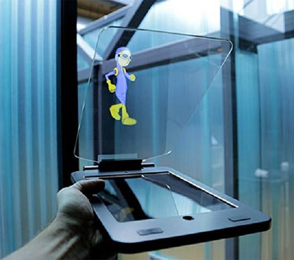 Tablet que transforma su iPad en un proyector holográfico