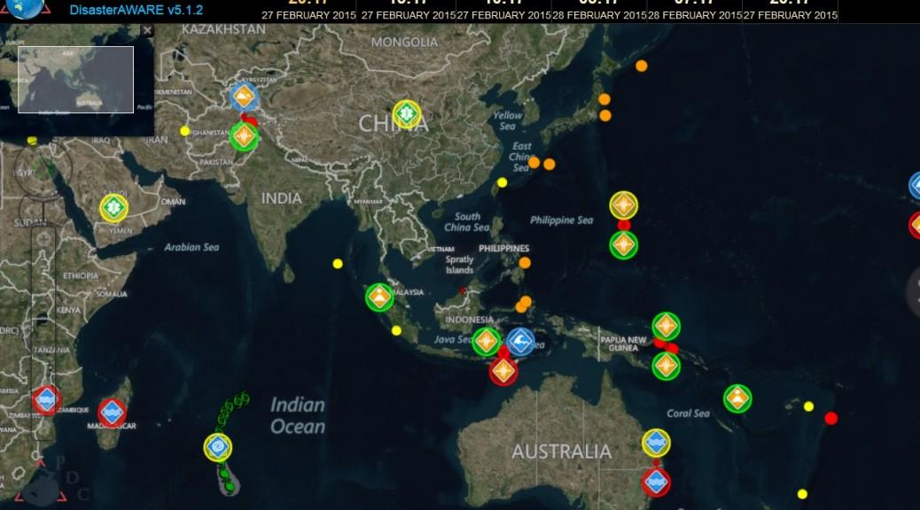 Sitio web para seguir los desastres naturales en tiempo real