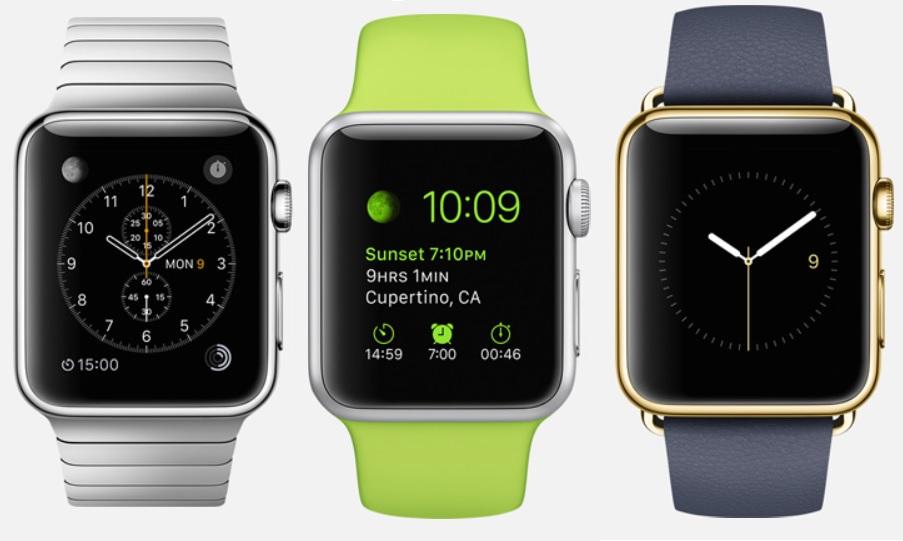 El Reloj inteligente Apple Watch en tres modelos y dos tamaños, incluso uno de oro
