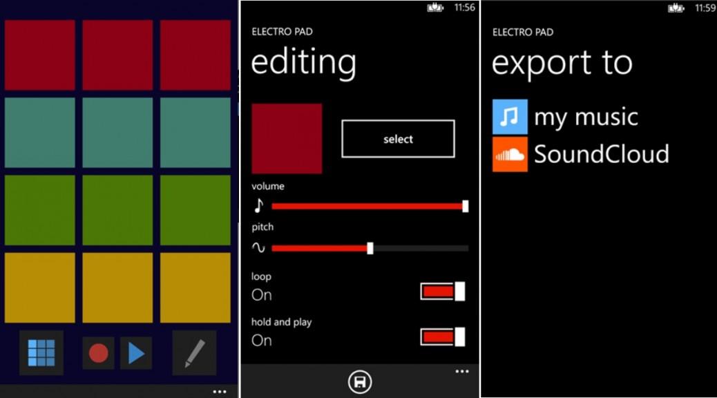 Cree sus propios ritmos con Electro Pad, gratis para Windows Phone