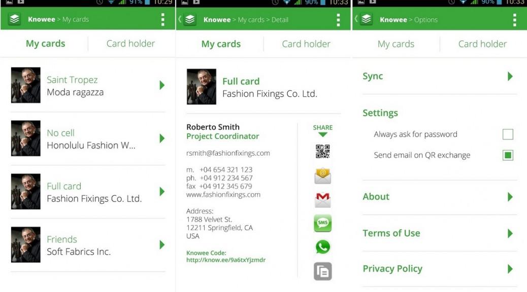 Digitalice y comparta rápidamente las tarjetas de visita, gratis para Android, iPhone, iPad, iPod