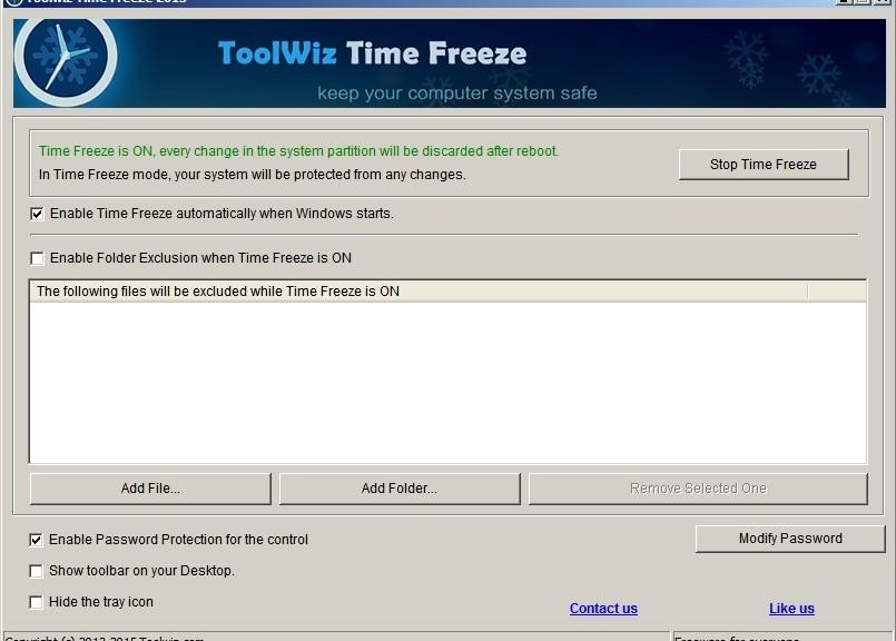 Utilidad gratuita para proteger su PC de cambios, virus o plugins indeseados regresándolo a su estado original