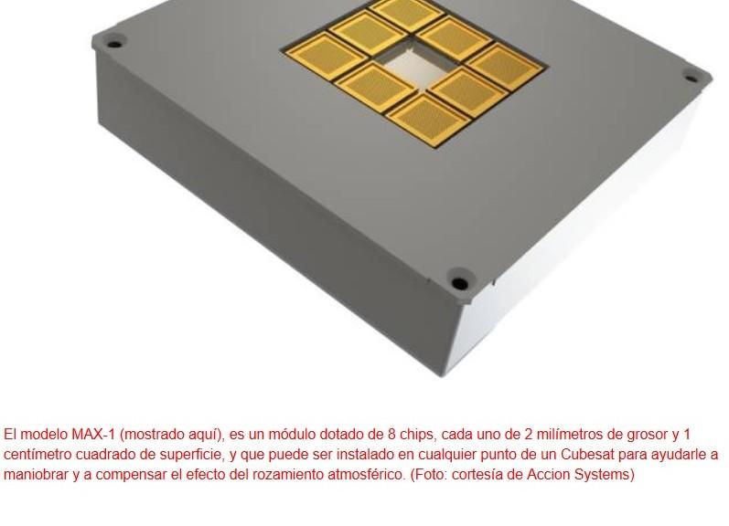 Desarrollan chips iónicos para impulsar pequeños satélites en el espacio