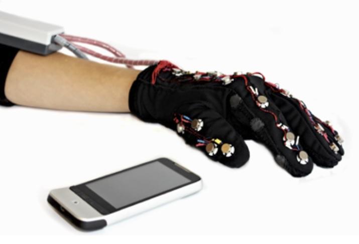 Gaunte de alta tecnología ayuda a la comunicación de personas sordociegas
