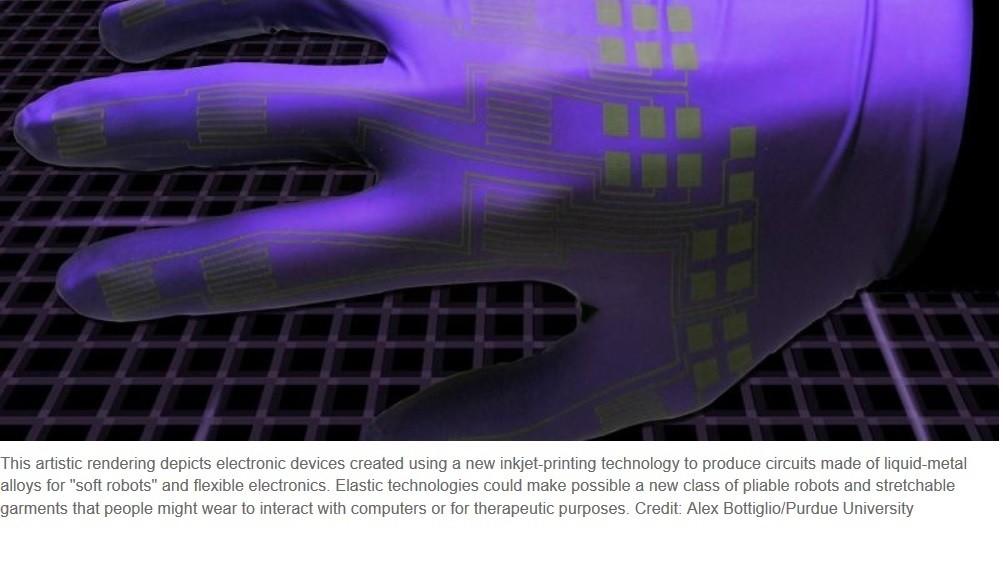 Impresión de inyección de tinta con metal líquido produce circuitos flexibles