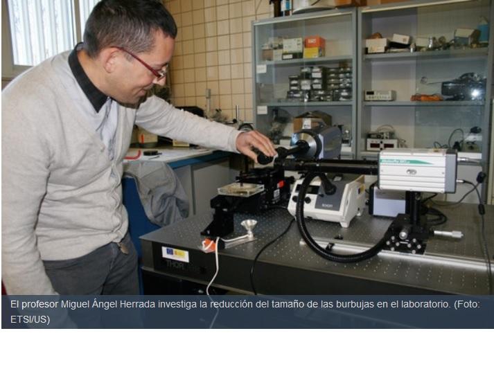 Trabajan en crear microburbujas útiles para diagnósticos y suministrar fármacosTrabajan en crear microburbujas útiles para diagnósticos y suministrar fármacos