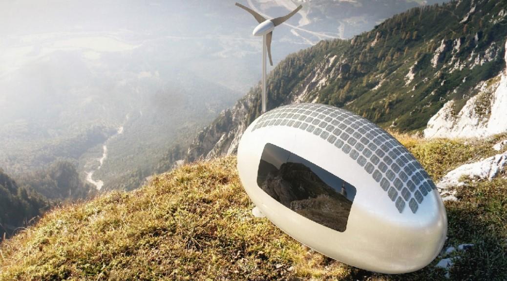 Mini-hogar futurista ecológico y sostenible