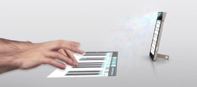 Lenovo fabrica primer teléfono con proyección interactiva láser
