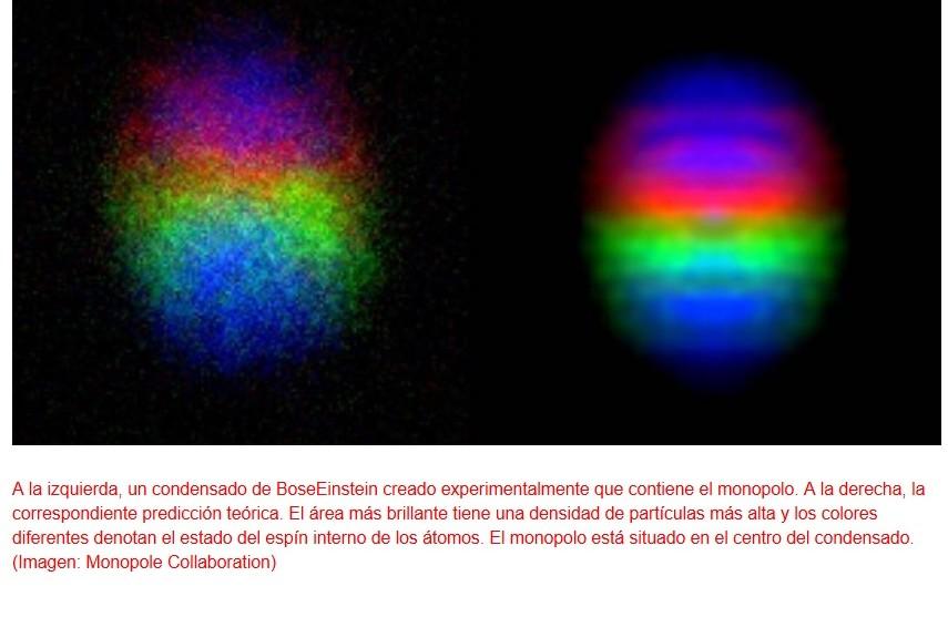 Hallan monopolo en un campo cuántico