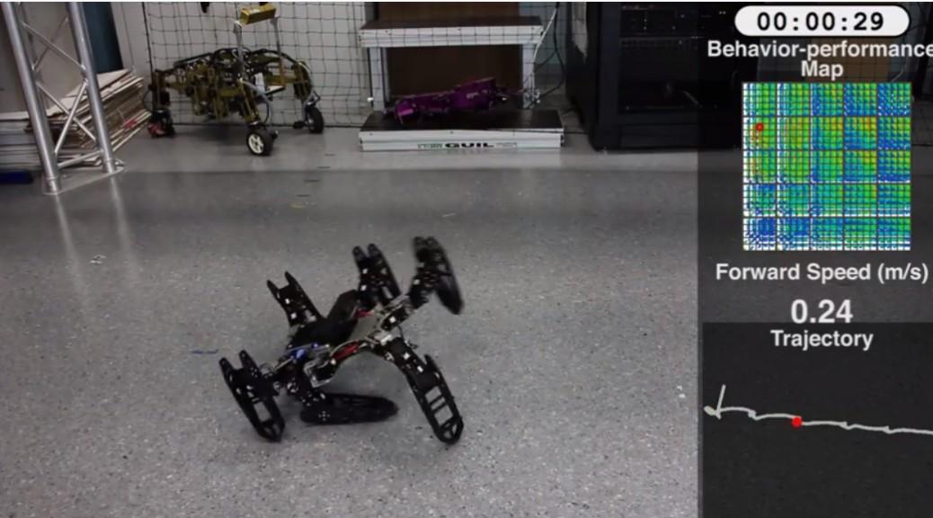 Robots que se adaptan como los animales, cuando sufren averías