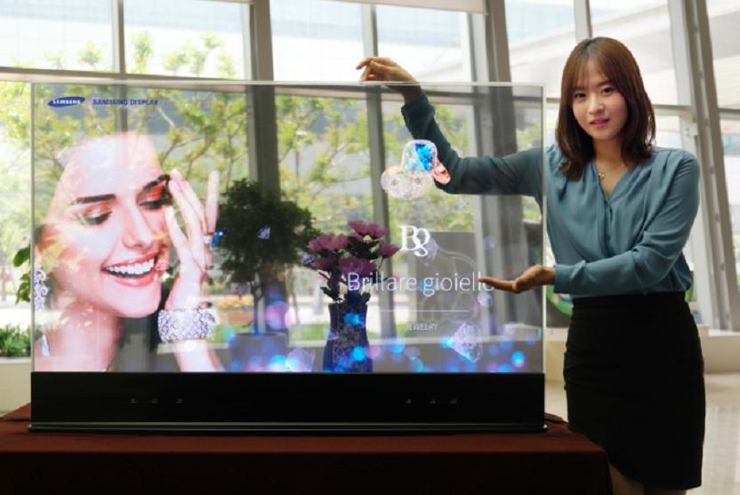 Samsung presenta pantallas transparente y espejo de 55 pulgadas