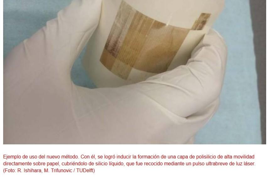 Logran imprimir silicio sobre papel usando láser