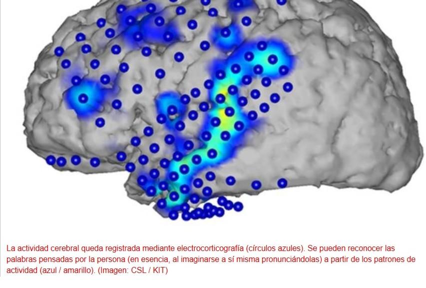 Logran reconstruir frases completas a partir de ondas cerebrales