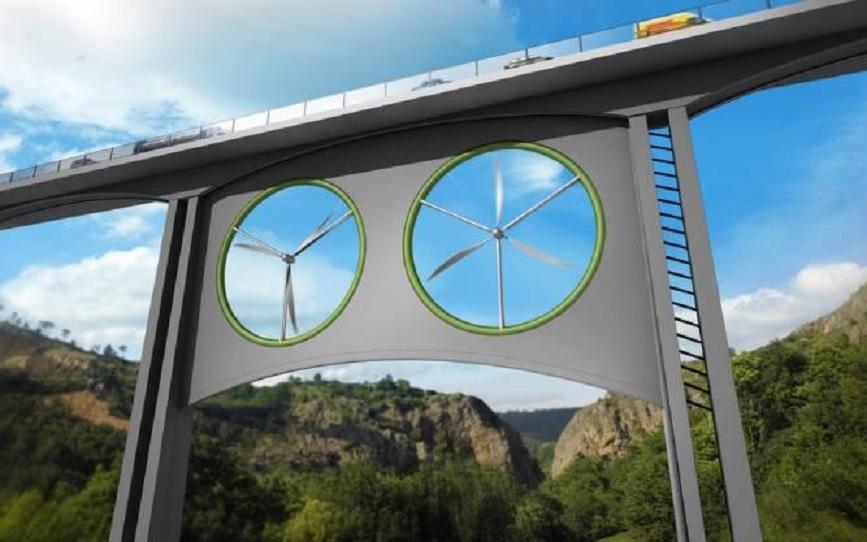 Fuente de energía renovable en viaductos y puentes