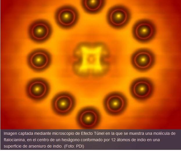 Fabrican transistor hecho con una molécula y varios átomos