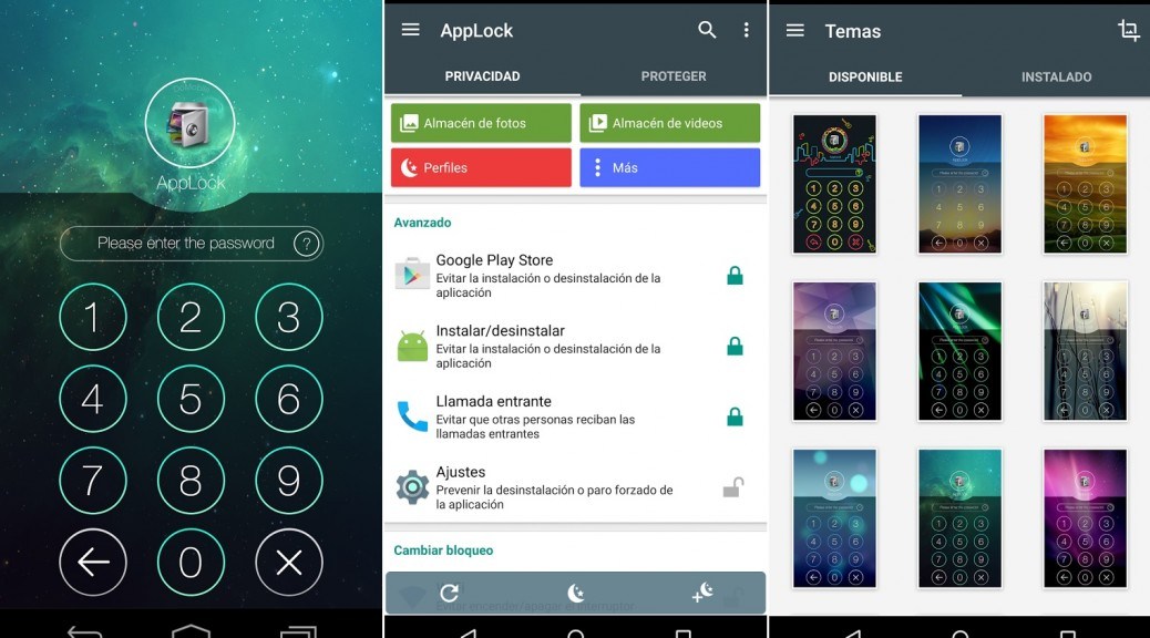 Proteja la privacidad de sus aplicaciones, contactos, mensajes, correos, llamadas, fotos, gratis para Android