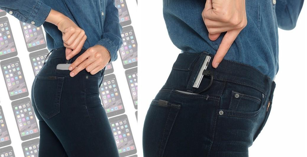 Jeans para recargar su iPhone