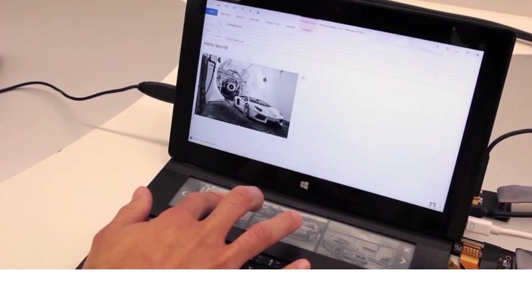 Microsoft trabaja en una cubierta de teclado con pantalla de tinta electrónica integrada
