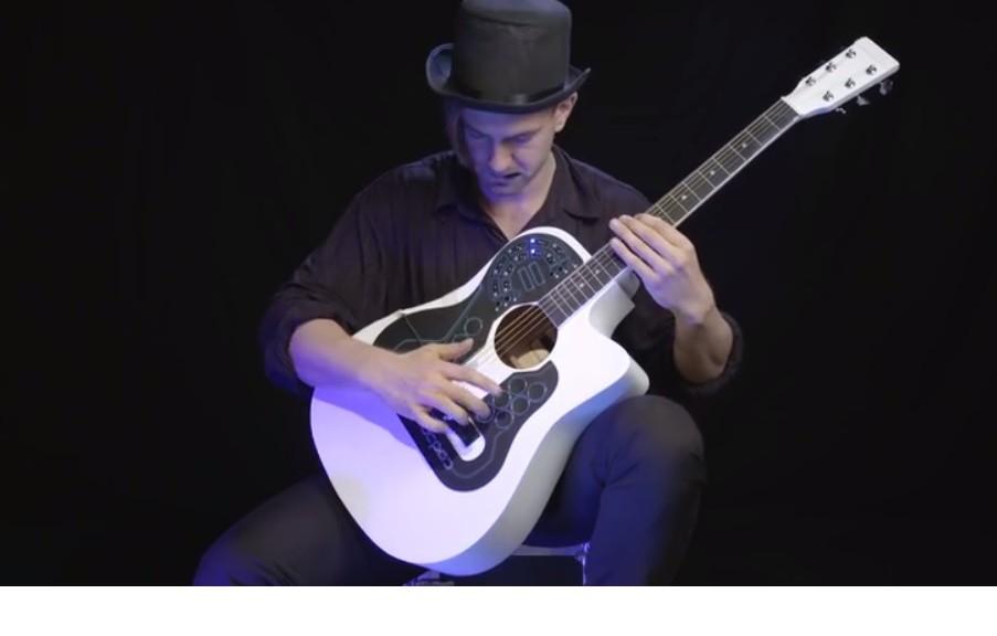 Diseñan el primer controlador MIDI inalámbrico del mundo para guitarra acústica