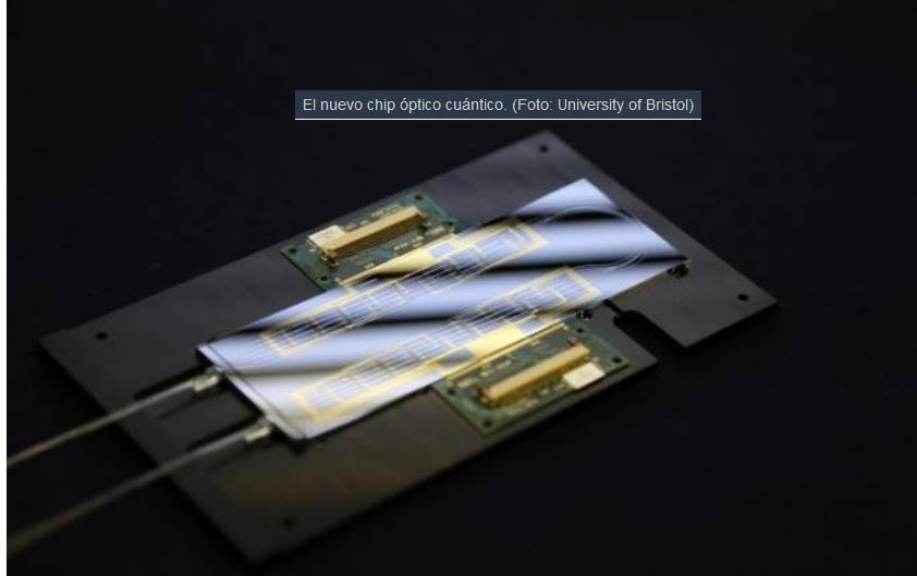 Desarrollan chip óptico reprogramable para computación cuántica