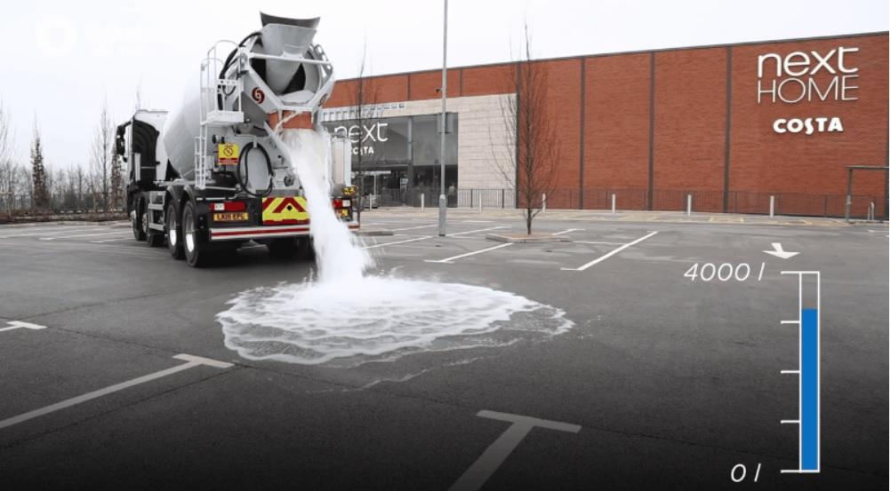 Nuevo tipo de concreto drena 4 mil litros de agua en un minuto