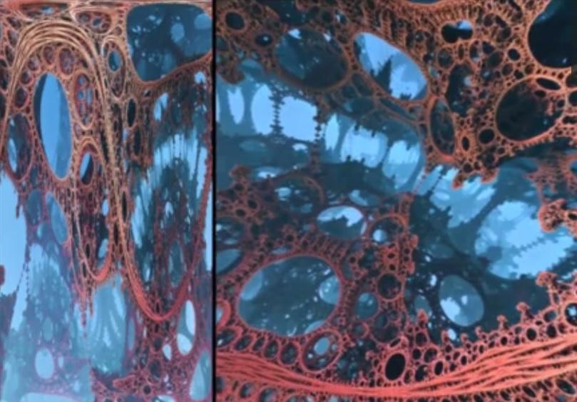 Arte que le permite explorar fractales en realidad virtual
